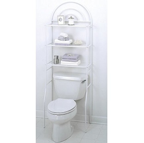 Over The Toilet Space Saver Bathroom Cabinet Shelf Organizer Rack (Height Space Saver)
