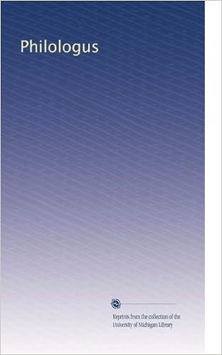 Scribd kostenloser E-Book-Download Philologus (German Edition) ePub B0038BR2EU