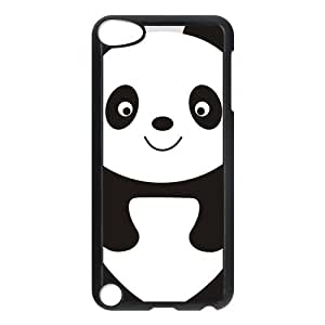 IPod Touch 5th Case,Cute Cartoon Panda Hign Definition Black And White Design Cover With Hign Quality Hard Plastic Protection Case