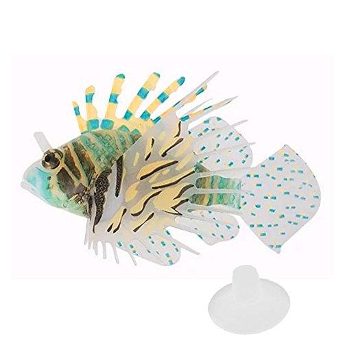 Gosear Silicón Colorido Pez León de Flotante Que Brilla Intensamente / Ornamentos de Jardinería Peces Artificiales...