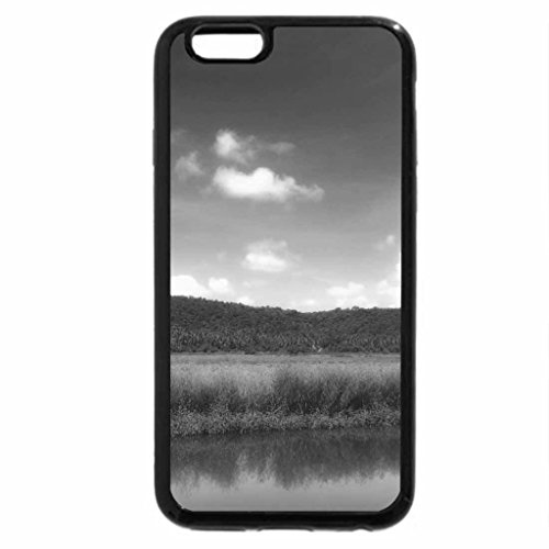 iPhone 6S Case, iPhone 6 Case (Black & White) - Fields of green in the Sun