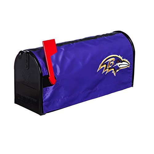 Ashley Gifts Customizable Embroidered Applique Fabric NFL Mailbox Cover, Baltimore ()