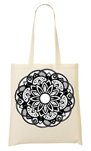 Sun Mandala | Spiritual Collection | Meditation | Popular | Nice To | Cotton| Yoga | India | Faith | Swag | Yolo | Cool T Shirt Bolso De Mano Bolsa De La Compra