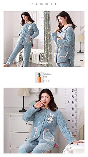 30 50kg sleeved Winter 65 172cm Thick Fleece Service Long Pajamasx Home Flannel M150 Coral Women Cardigan Pajamas Xxl164 Autumn 162cm 75kg Suit And TSqnz1xB