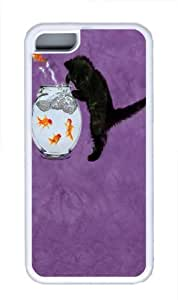 Fishin Kitten TPU Case Cover for iPhone 5C White