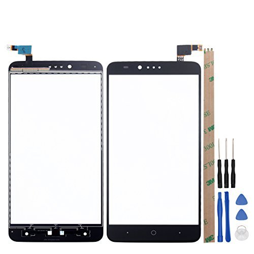 For ZTE Zmax Pro/Z981 Repair Part Replacement Front Glass Touch Screen Touch Tanel TP(black)