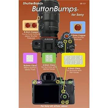 ShutterBands ButtonBumps for Sony E-Mount (fits Sony a9, a7RIII, a7III,  a7RII, a7SII, a7II, a7, a7R, a7S, a6500, a6300, a6000, a5000, NEX Series)