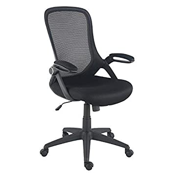 Poly and Bark EM-369-BLK Sadia Office Chair in Mesh, Black