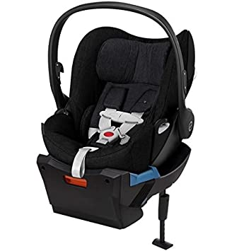 Cybex Cloud Q Plus Infant Car Seat With Base In Stardust Black