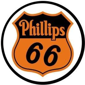 Phillips 66 Shield Logo Gasoline Round Tin Sign 12 x 12in - Round Metal Tin Sign