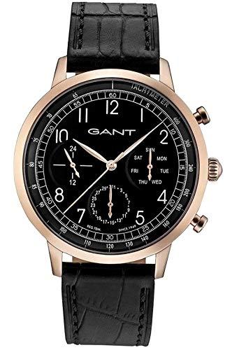 5942fc25be5d GANT Reloj Multiesfera para Hombre de Cuarzo con Correa en Cuero W71205   Amazon.es  Relojes