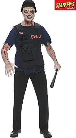 Smiffys - Disfraz de zombi Swat para hombre, talla única (22029M ...
