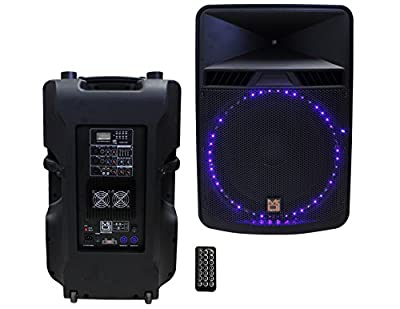 Mr. Dj PBX5500LED 2 Way Bass Reflex Active Speaker, Max Power P.M.P.O Built-in Bluetooth by Mr. Dj Inc.