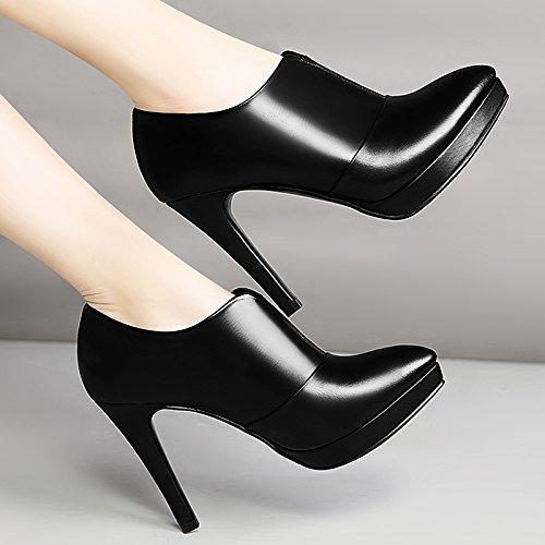 Unica Black eight primavera Khskx Alla Thirty Femminile Sexy Sharp Delle Scarpe Tacco Piattaforma Trentaquattro Scarpa Moda Signore Primavera Le gqqfRv