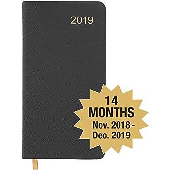 2019 pocket plannerpocket calendar 14 months begins november 2018 2019 calendar 2019 weekly calendarweekly planner organizer black