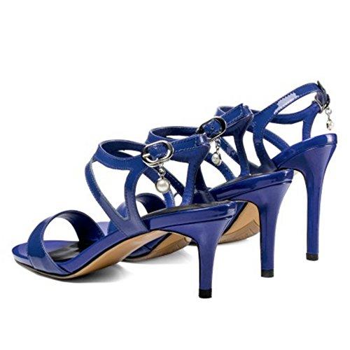 Aiguille Coolcept 5cm Femmes À 7 Talon Sandales Blue 040rnqIU