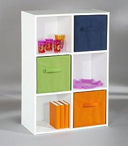 meuble de rangement 6 casiers meuble parfait pour ranger les jouet de mon enfant basique mais ne prend pas trop de place