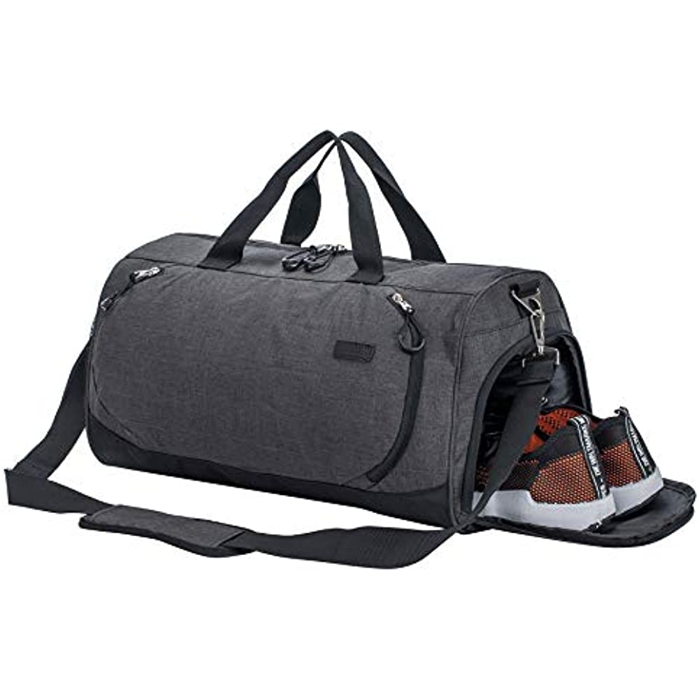 2f8279dbf3 Details about Sports Duffels Gym Duffle Bag Travel With Shoe Compartment  And Wet Pocket For