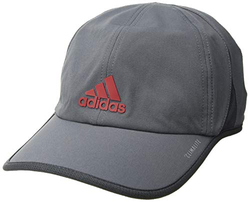 - adidas Men's Superlite Relaxed Adjustable Performance Cap, Onix/Dark Grey/Scarlet, One Size