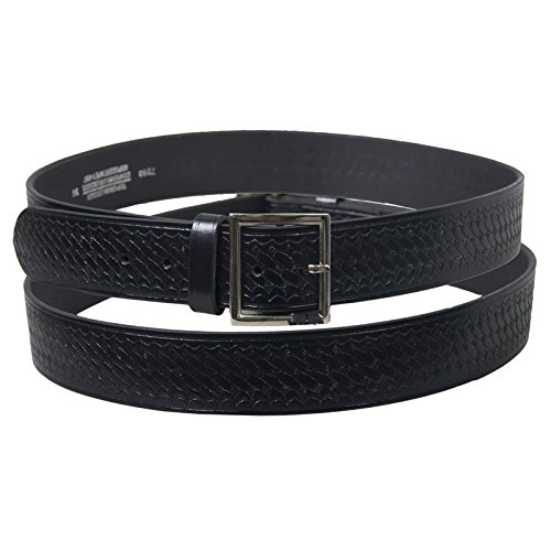 Hot Leathers 12107 Black Size 34 Genuine Leather Basket Weave Garrison Belt with Removable Buckle (Buckle Garrison)