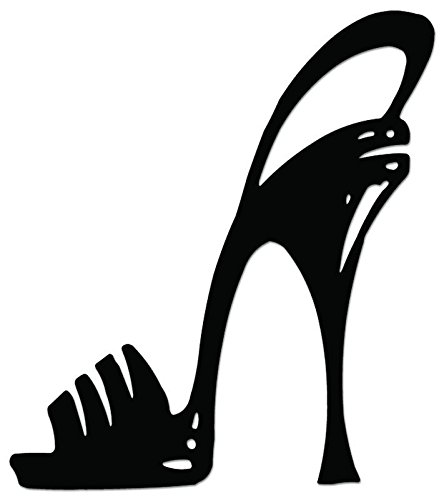 High Heel Fashion Shoes Vinyl Decal Sticker For Vehicle Car Truck Window Bumper Wall Decor - [6 inch/15 cm Tall] - Gloss RED Color