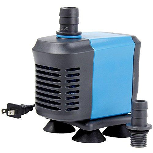 Aquaneat 600GPH Submersible Aquarium Water Pump Hydroponic Fountain Powerhead for Fish Tank Pond Waterfall ()