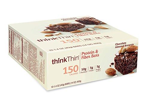thinkthin-protein-fiber-bars-chocolate-almond-brownie-141-oz-bar-10-count