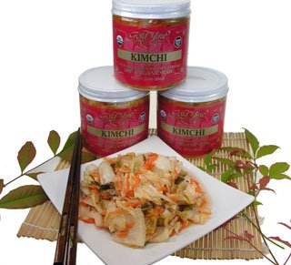 Gold Mine Organic Fresh Raw Un-Pasteurized Napa Cabbage Kimchi - Gluten-Free, Vegan, Korean-American Side Dish - 34 Oz (Made in the USA)