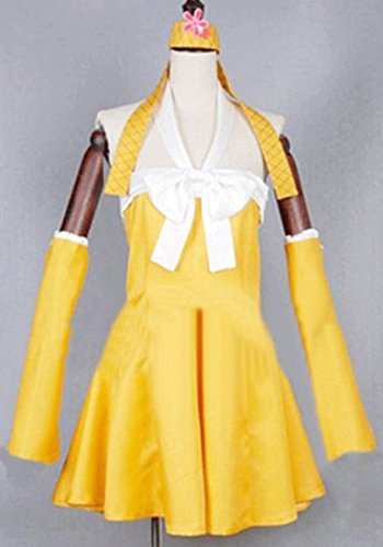 [Relaxcos Fairy Tail Levy Mcgarden Dress Cosplay Costume] (Levy Fairy Tail Costume)