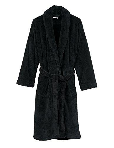 TowelSelections Women's Super Soft Plush Bathrobe Fleece Spa Robe Small/Medium Anthracite