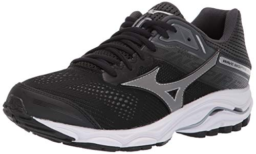 Mizuno Women's Wave Inspire 15 Running Shoe, Black-Dark Shadow, 10.5 W US