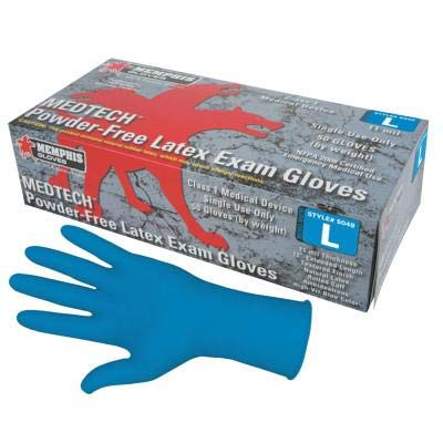 Memphis Glove 127-5049L Emt-Med Latex Clove Grade 11, Large, Multicolor (Pack of 500) by MCR Safety (Image #1)