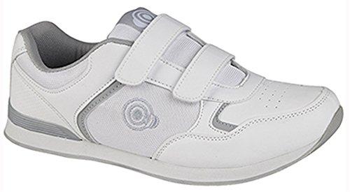 36 de White bowling pour Chaussures 3 2 Velcro Dek Dek Womens homme T71wYY