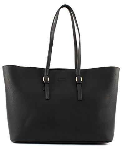 Envío Del Precio Bajo Tarifa Calvin Klein CK Large Tote Solid Black Real Distancia fQ62nRwE7a