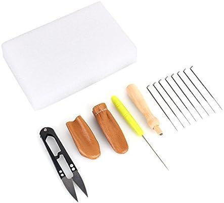 1 Set Craft Kit Wool Felt Tools Needle Felting Starter Kit  Mat//Scissors//Needle
