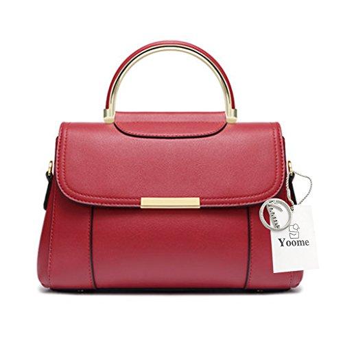 Sacs Yoome Girls pour les adolescents Top sac à main Sacs élégant pour les femmes Sacs à main pour femmes Sacs décontractés - Beige Rouge m9nm7tpyQg