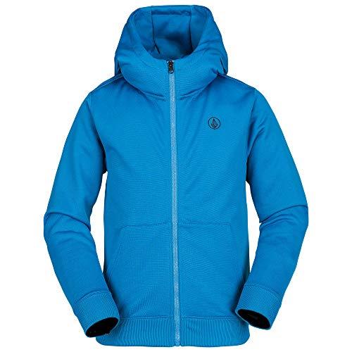 7d7fa82deee Volcom Boys' Big Grohman 280g Hydrophobic Hooded Fleece Sweatshirt, Blue,  Medium