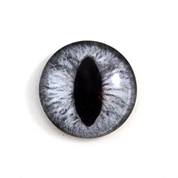 Amazoncom 25mm Single Silver Grey Dragon Or Cat Glass Eye For