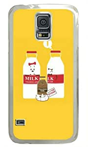 Cartoon Milk Samsung Galaxy S5 Hard Shell with Transparent Edges Cover Case by Lilyshouse