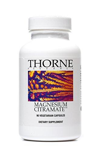 Thorne Research - Citramate de magnesio - magnesio con suplemento de citrato malato - 90 cápsulas vegetarianas