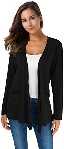 TownCat Cardigans for Women Loose Casual Long Sleeved Open Front Breathable Cardigans with Pocket 1