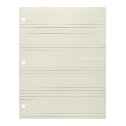 Green Paper Pad, 8.5 x 11 Inches, Law Ruled, Extra wide marg