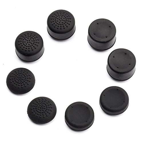 Pandaren Pack of 8 pcs Thumb Grip Thumbstick for PS2, PS3, PS4, Xbox 360, Wii U Controller (not for Xbox One Controller) (Xbox 360 Thumbsticks)