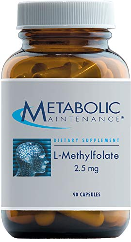 Metabolic Maintenance L-Methylfolate 2.5 mg - Active Folate (L-5-MTHF) for Mood, Nerve + Cardiovascular Support (90 Capsules)