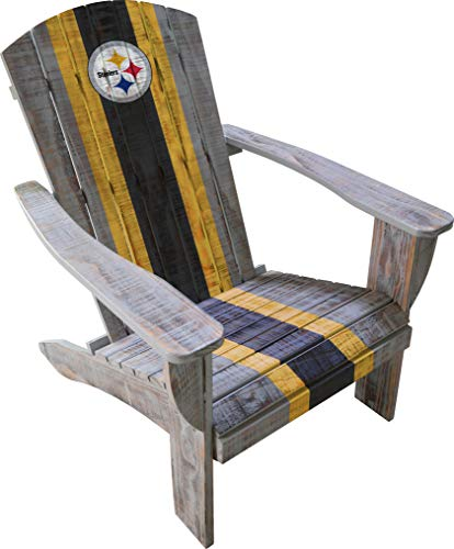 (Imperial Officially Licensed NFL Furniture: Distressed Wooden Adirondack Chair, Pittsburgh Steelers)