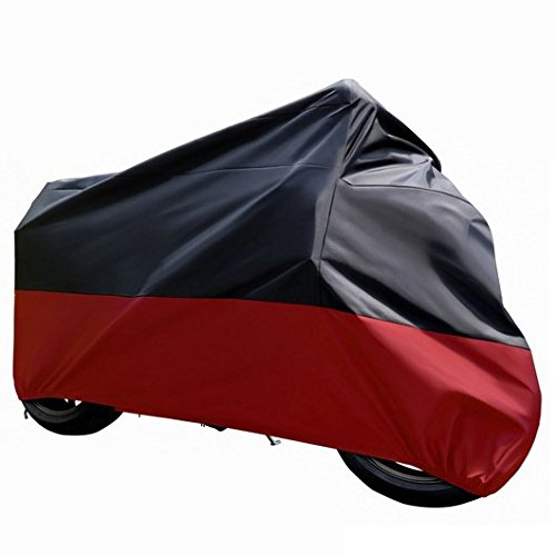 GZQ Motorcycle Cover All Season Waterproof Outdoor Protection – Precision Fit for Tour Bikes, Choppers and Cruisers – Protect Against Dust, Debris, Rain and Weather - Indian Stores Calgary