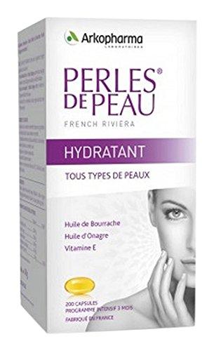 Perlas de 200 cápsulas de piel crema hidratante Arkopharma