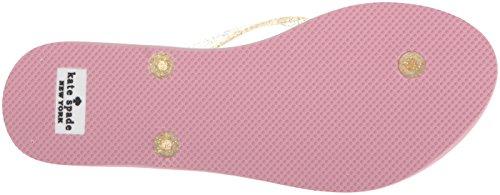 New Spade Nassau Gold Rubber oro Women Rubber Flop 9 Flip US 's Medium Glitter York Glitter Kate wXp5qX