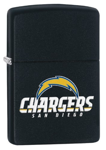 Zippo Lighter - NFL San Diego Chargers Black Matte
