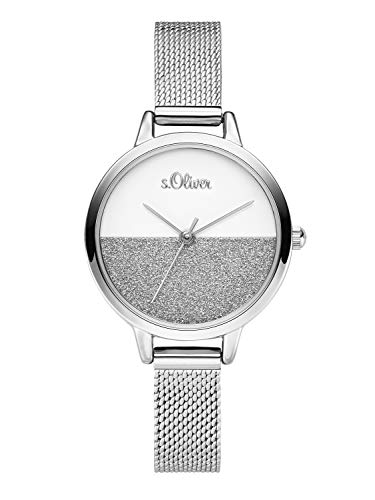s.Oliver Womens Analogue Quartz Watch with Stainless Steel Strap SO-3745-MQ